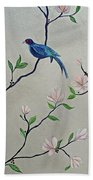 Chinoiserie - Magnolias And Birds #4 Beach Towel