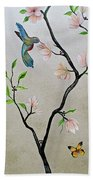 Chinoiserie - Magnolias And Birds #5 Beach Towel