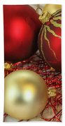 Chirstmas Ornaments Beach Towel