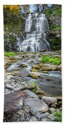 Chittenango Falls In Autumn  Beach Towel