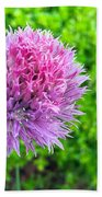 Chive And Bee Beach Towel