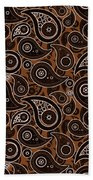 Chocolate Brown Paisley Design Beach Towel