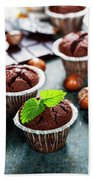Chocolate Muffins Beach Towel