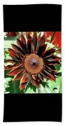 Chocolate Sunflower Beach Towel