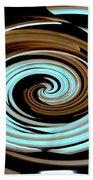 Chocolate Swirls Beach Towel
