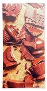 Chocolate Tableware Destruction Beach Towel
