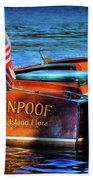 1958 Chris Craft Utility Boat Beach Towel