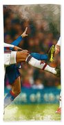 Chris Smalling  In Action  Beach Towel