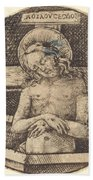 Christ As The Man Of Sorrows Beach Towel