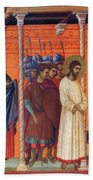 Christ Before Pilate 1311 Beach Towel