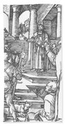 Christ Before Pilate 1511 Beach Towel