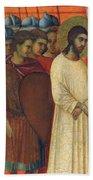 Christ Before Pilate Fragment 1311 Beach Towel