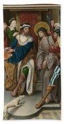 Christ Before Pilate Beach Towel