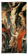 Christ Between The Two Thieves Beach Towel