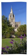 Christ Church Cathedral Oxford University Uk Beach Towel