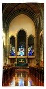 Christ Church Cathedral Victoria Canada Beach Sheet