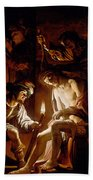 Christ Crowned With Thorns Beach Towel
