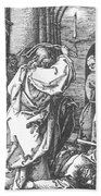 Christ Driving The Merchants From The Temple 1511 Beach Towel