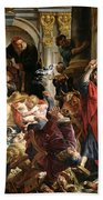 Christ Driving The Merchants From The Temple Beach Towel
