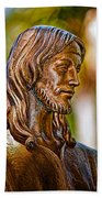 Christ In Bronze Beach Towel by Christopher Holmes