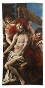 Christ Mourned By Three Angels Beach Towel