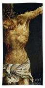 Christ On The Cross Beach Towel by Matthias Grunewald