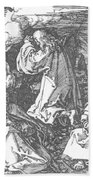 Christ On The Mount Of Olives 1511 Beach Towel