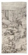 Christ On The Mount Of Olives 1521 Beach Towel