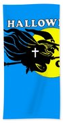 Christian Halloween Witch Beach Towel