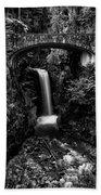 Christine Falls - Mount Rainer National Park - Bw Beach Towel