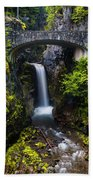 Christine Falls - Mount Rainer National Park Beach Towel