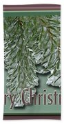 Christmas Arborvitae In Ice Beach Towel