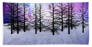 Christmas Bare Trees Beach Towel