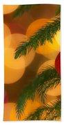 Christmas Bokeh Beach Towel