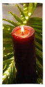 Christmas Candle 2 Beach Towel