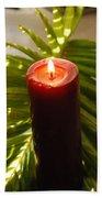 Christmas Candle 2 Beach Towel