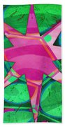 Christmas Celebration Abstract Painting Beach Towel