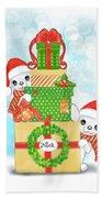 Christmas Chi Elves Beach Towel by Catia Lee