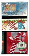 Christmas Collage  Beach Towel