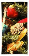 Christmas Decorations Beach Towel