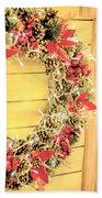 Christmas Decorations Beach Towel