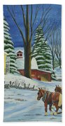 Christmas Eve In The Country Beach Towel