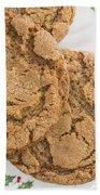 Christmas Gingerbread Cookies Beach Towel