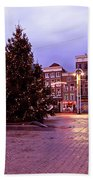 Christmas In Amsterdam The Netherlands Beach Towel