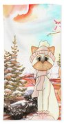 Christmas In The Forest Beach Towel