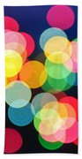 Christmas Lights Abstract Beach Towel by Elena Elisseeva