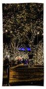 Christmas Lights Beach Sheet
