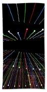 Christmas Lights Zoom Blur Beach Towel