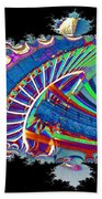 Christmas Needle In Fractal Beach Towel