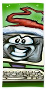 Christmas Office Party Beach Towel